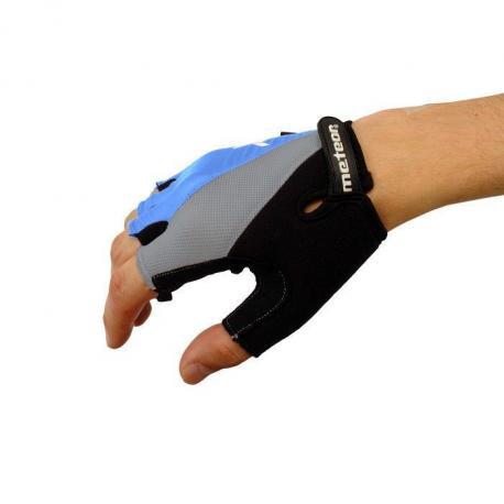 Rękawiczki rowerowe żelowe Meteor BX-3 niebieskie