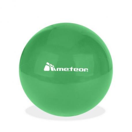 Piłka gumowa 20 cm zielona METEOR