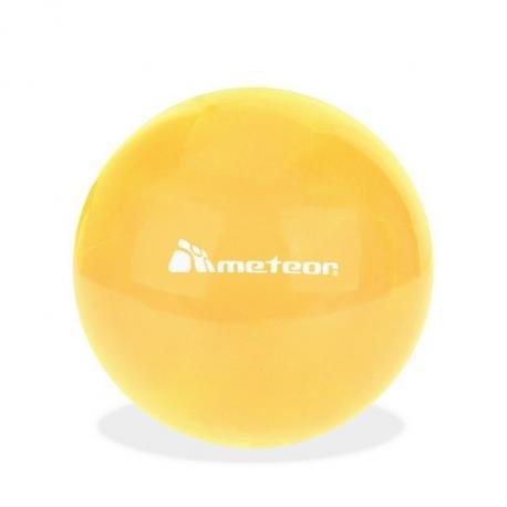 Piłka gumowa 20 cm żółta METEOR