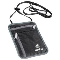 Saszetka na szyję portfel black-granite Deuter