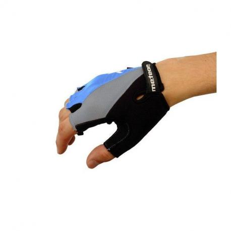 Rękawiczki rowerowe niebiesko - czarne Meteor